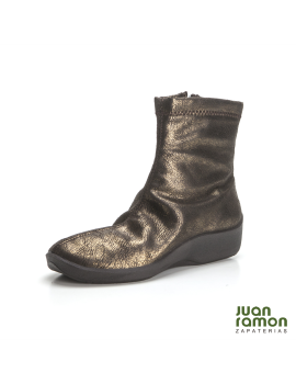 BOTIN METALIZADO MARRON